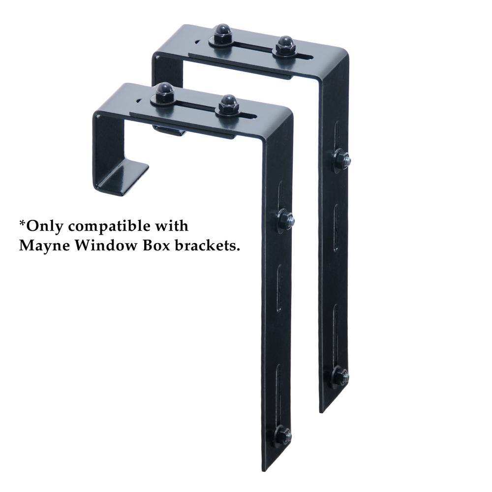 Window Box Deck Rail Steel Brackets (2-Pack)