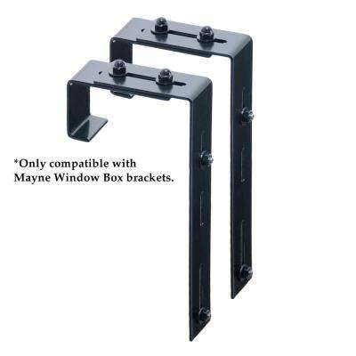 Window Box Deck Rail Steel Brackets (2-Pack)