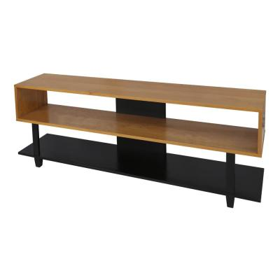 Creek Solid Two-Tone (Natural Cherry, Black) American Cherry TV Stand