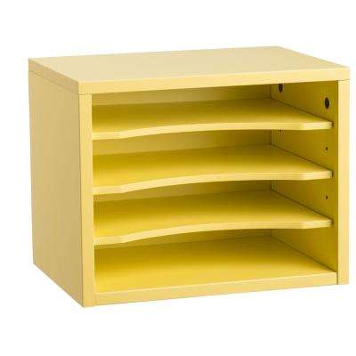Stackable Desk Organizer with Removable Shelves, Yellow