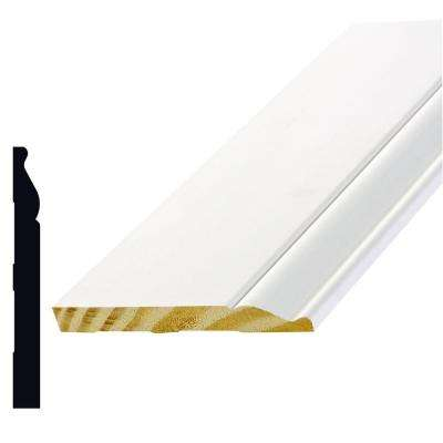 L163E 9/16 in. x 5-1/4 x 192 in. Primed Finger-Jointed Pine Base Moulding Pro Pack 80 lin. ft. (5-Piece)