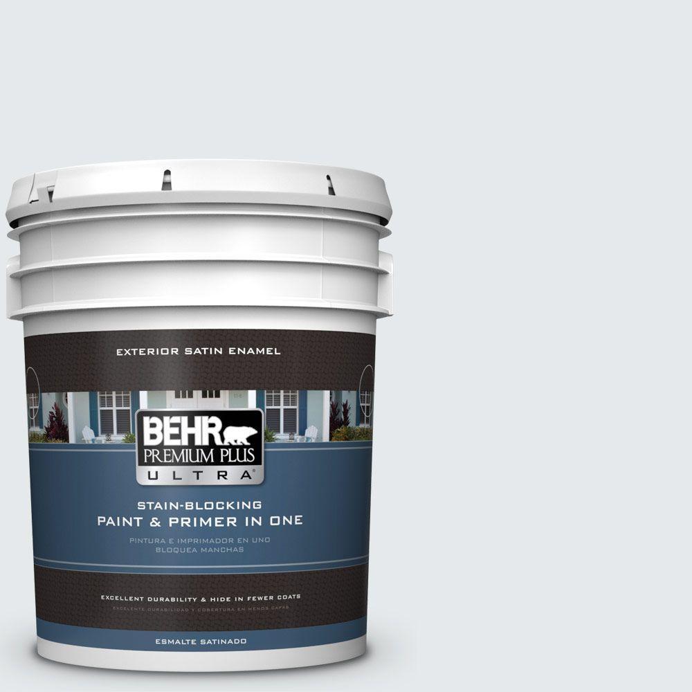 BEHR Premium Plus Ultra 5-gal. #PR-W10 Swirling Water Satin Enamel Exterior Paint
