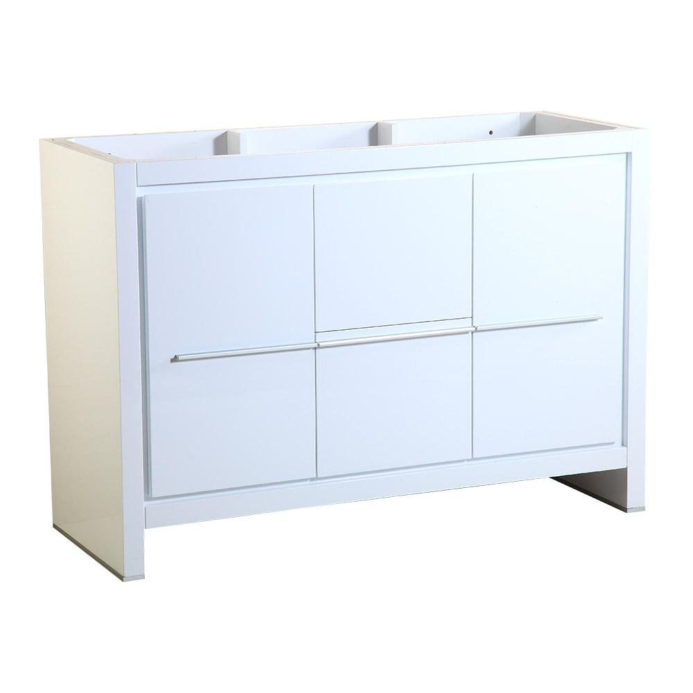Allier 48 in. Modern Bathroom Vanity Cabinet in White