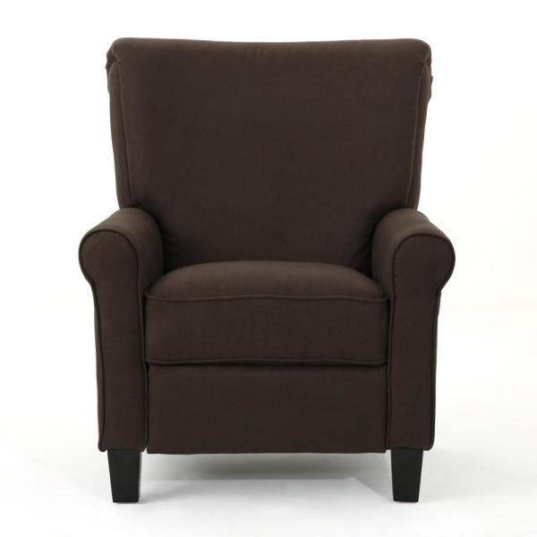 Noble House Thalia Traditional Coffee Fabric Recliner