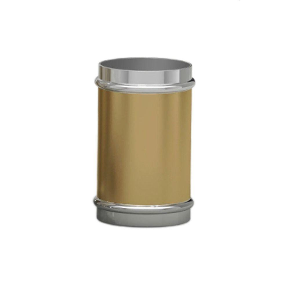 Homewear Halston Collection 4 in Tumbler in Gold Brushed Metal with Silver Metal Trim