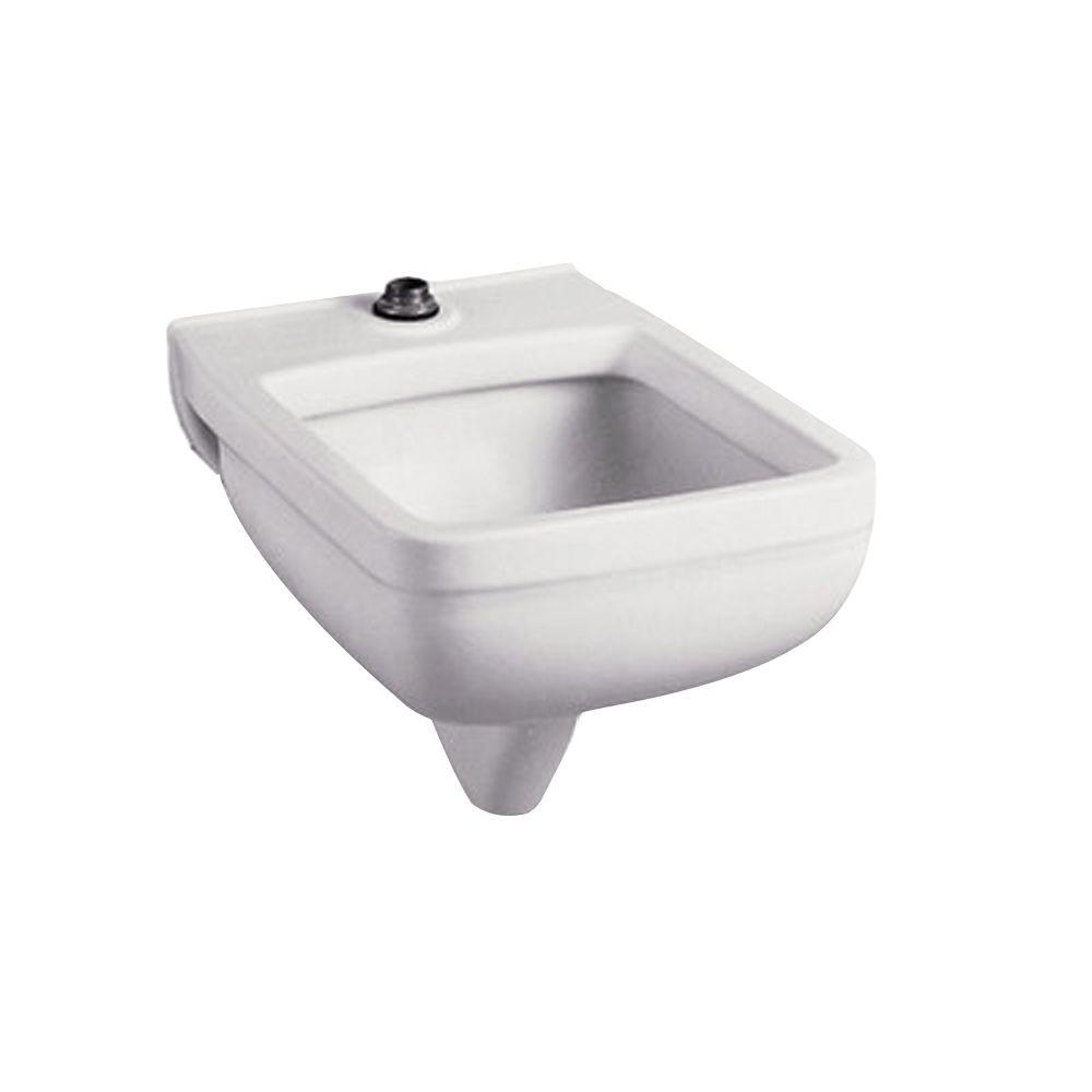 American Standard Clinic Service 25.25 in. x 21.125 in. Vitreous China Wall-Mounted Service Sink in White