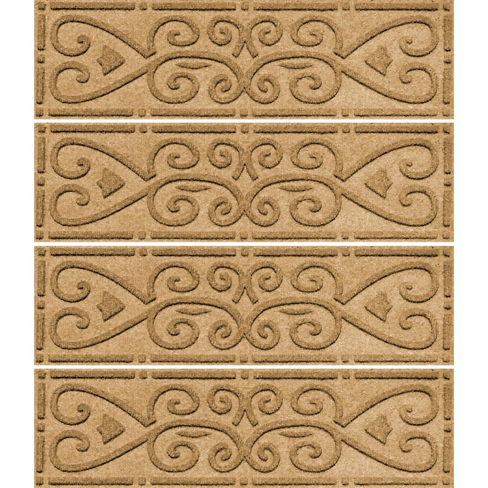 Awesome Aqua Shield Gold 8.5 In. X 30 In. Scroll Stair Tread Cover (Set