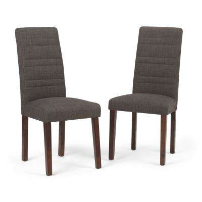 Gibson Dining Chair (Set of 2) in Midnight Grey Linen Look Fabric