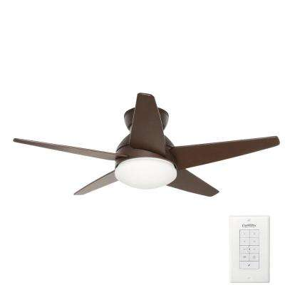 Isotope 44 in. Indoor Brushed Cocoa Bronze Ceiling Fan with Light