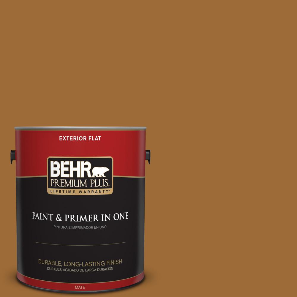 1 gal. #PPU6-01 Curry Powder Flat Exterior Paint