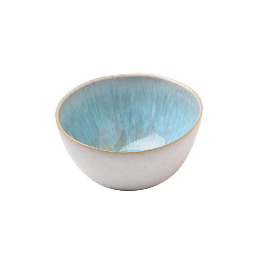 Ibiza 10 in. 96 fl. oz. Sea Blue Stoneware Serving Bowl