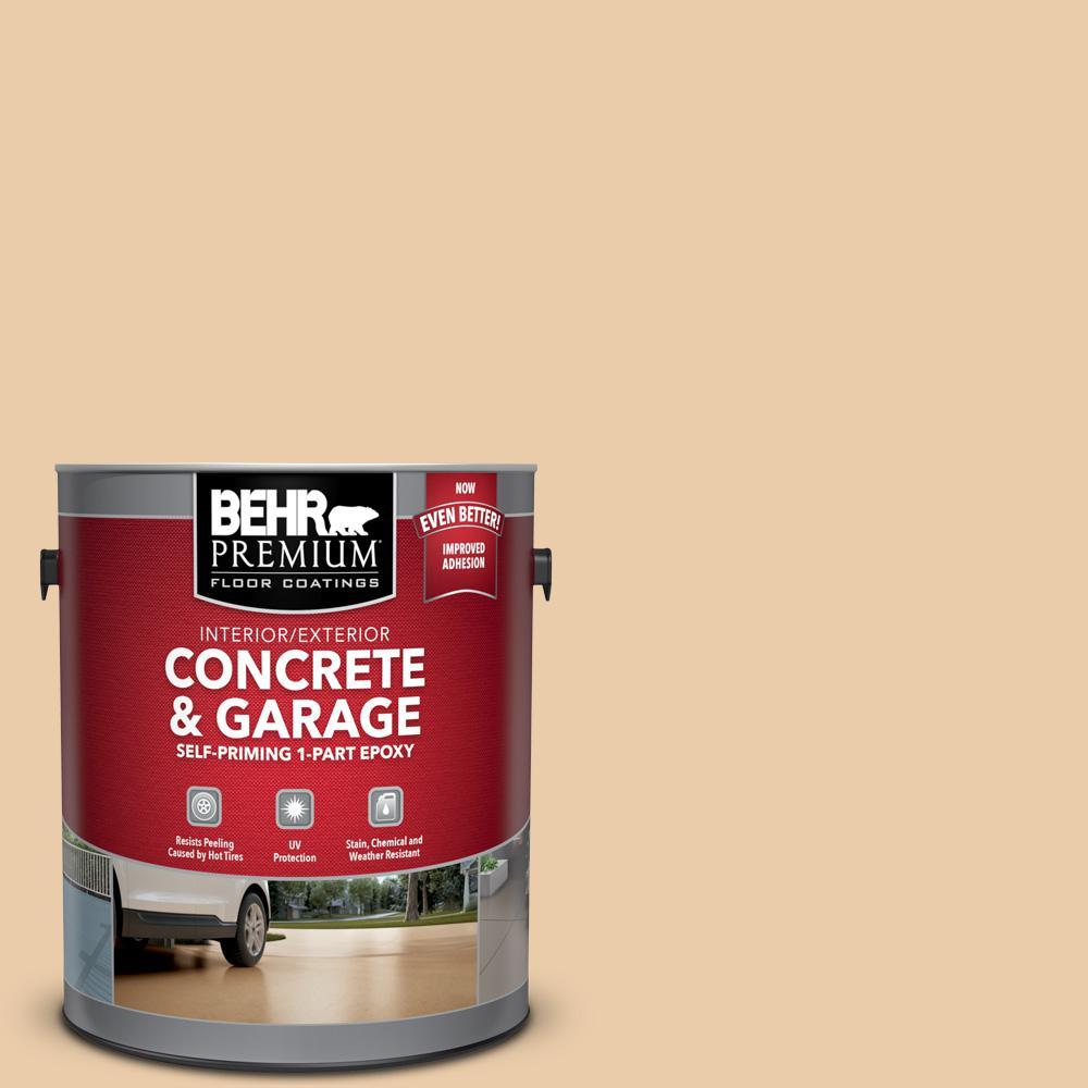 BEHR Premium 1 gal. #PFC-21 Grain Self-Priming 1-Part Epoxy Satin Interior/Exterior Concrete and Garage Floor Paint