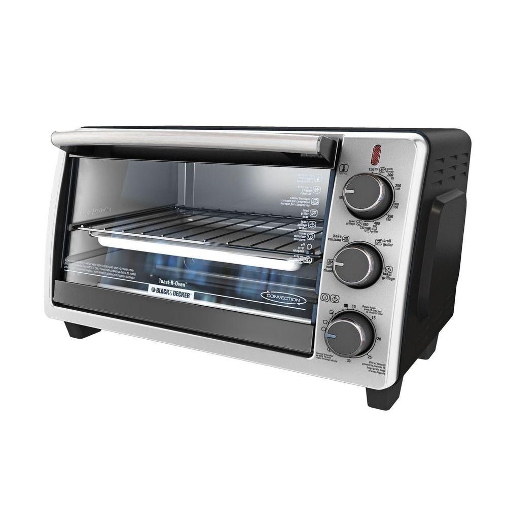 6-Slice Toaster Oven in Black