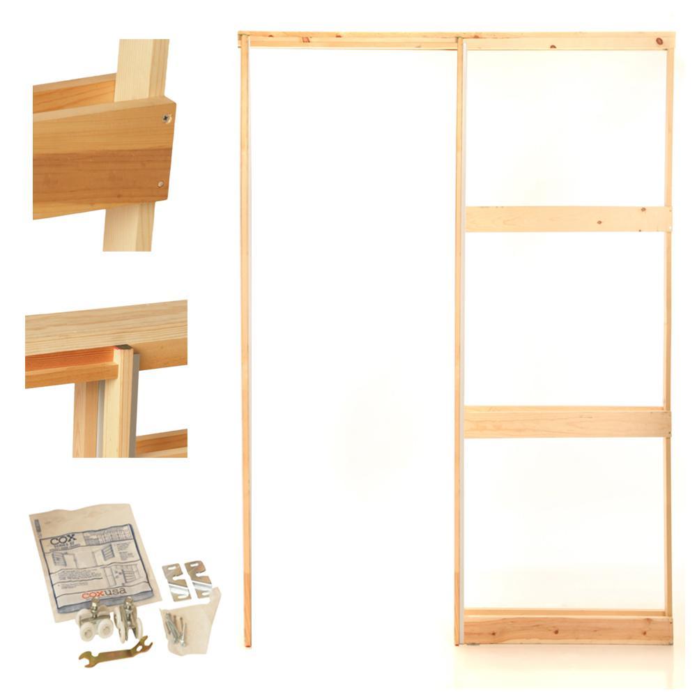 Genial Henry Pocket Frames 28 In. Knock Down Wood Pocket Door Frame