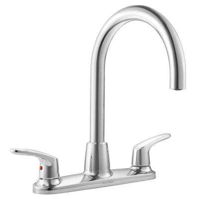 Colony Pro 2-Handle Standard Kitchen Faucet in Polished Chrome