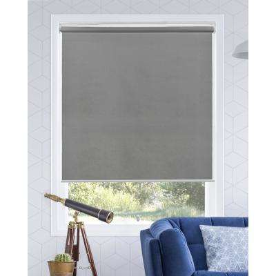 Snap-N'-Glide Urban Grey Cordless Light Filtering UV Protection Polyester Roller Shade 39 in. W x 72 in. L