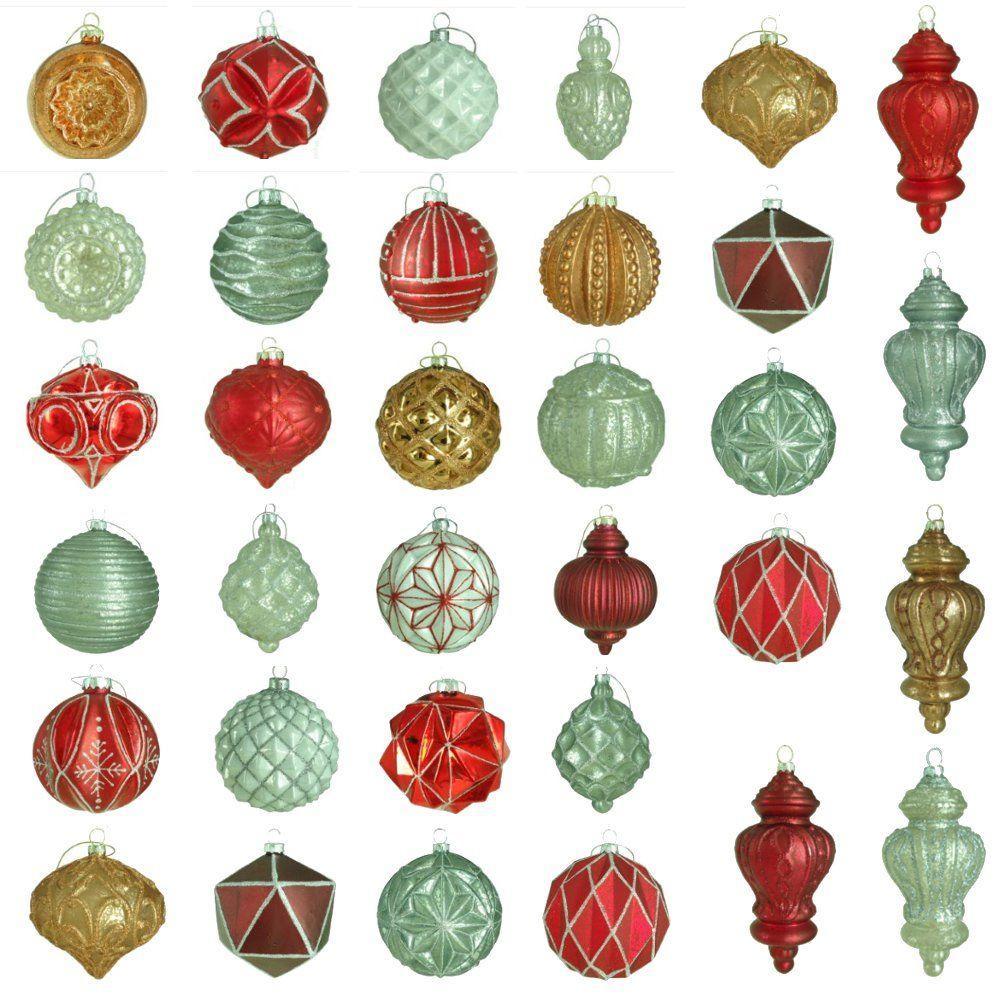 Martha stewart living winter tidings glass ornament set for Home depot christmas decorations 2012