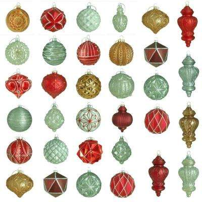 Winter Tidings Glass Ornament Set (50-Count)
