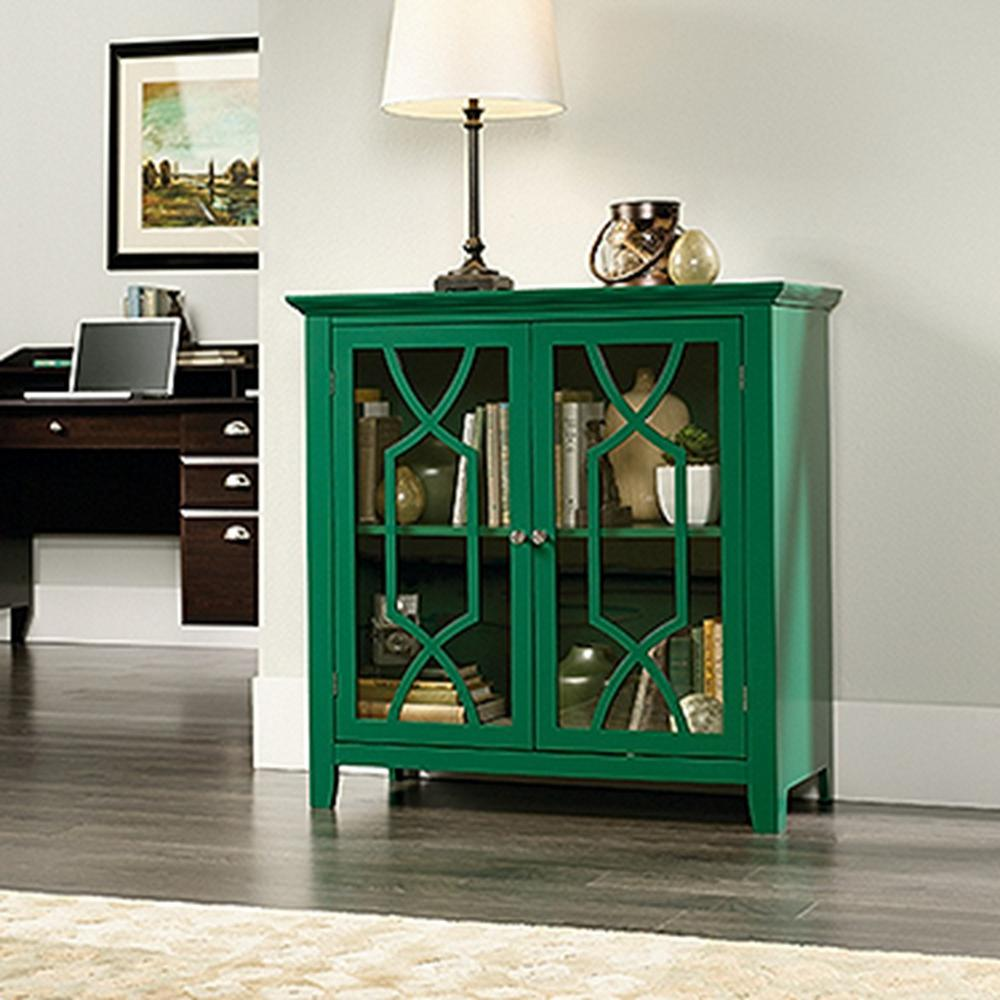 SAUDER Shoal Creek Green Accent Storage Cabinet & SAUDER Shoal Creek Green Accent Storage Cabinet-420127 - The Home Depot