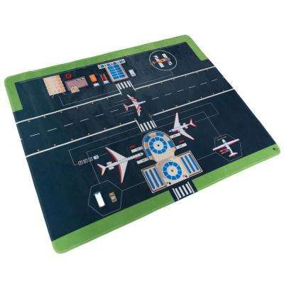 Airport Scene Multi 4 ft. x 5 ft. Area Rug