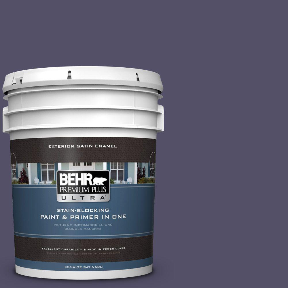 BEHR Premium Plus Ultra 5-gal. #PPU16-19 Mardi Gras Satin Enamel Exterior Paint