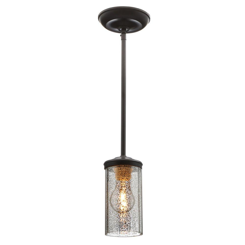 Sea Gull Lighting Sfera 1 Light Autumn Bronze Mini Pendant With Mercury  Glass 6110401 715   The Home Depot