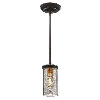 Sfera 4 in. W 1-Light Autumn Bronze Mini Pendant with Mercury Glass