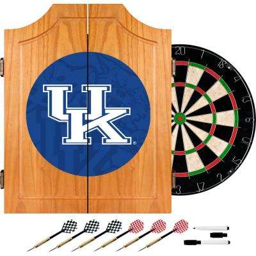University of Kentucky Fade 20.5 in. Wood Dart Cabinet Set