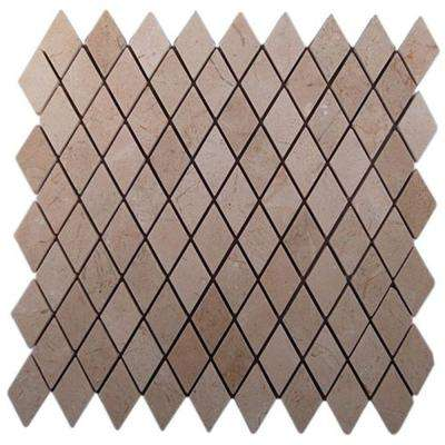 Crema Marfil Diamond 12 in. x 12 in. x 8 mm Marble Floor and Wall Tile