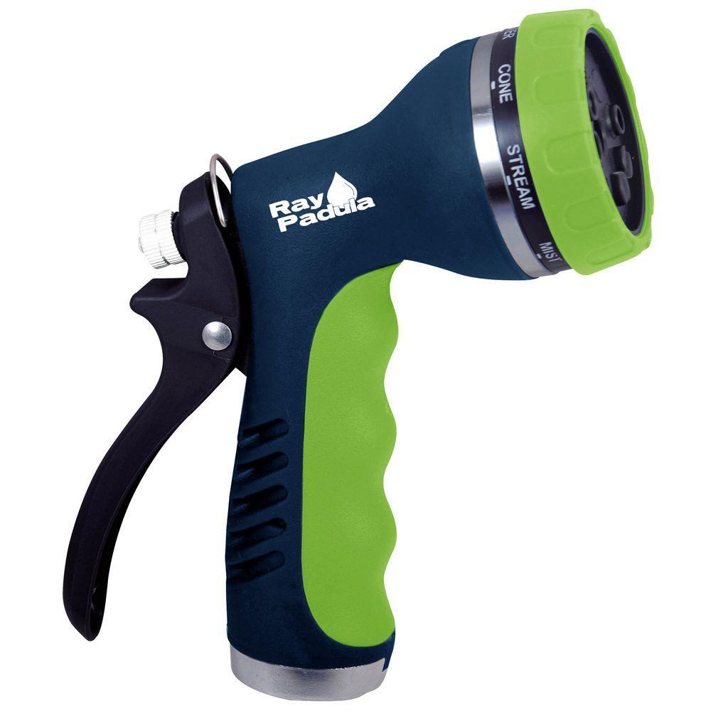 Metal Rear Trigger 8-Pattern Hose Nozzle