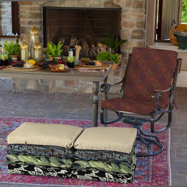 Arden Selections 20 In X 24 In Azulejo Southwest Outdoor Chair Cushion Tk0b170b D9z1 The Home Depot