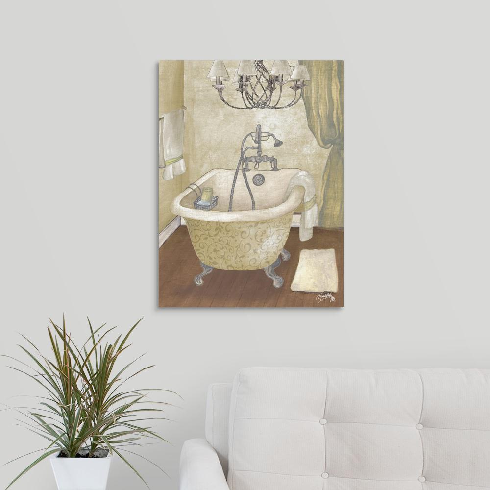 Magnificent Guest Bathroom I By Elizabeth Medley Canvas Wall Art Home Interior And Landscaping Ponolsignezvosmurscom