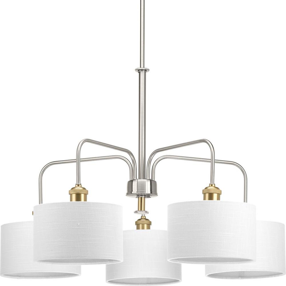 Cordin Collection 5-Light Brushed Nickel Chandelier with Shade