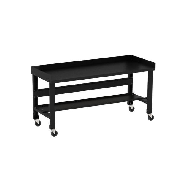 34 x 72 in Borroughs Adjustable Height Work Bench with Painted Black Top