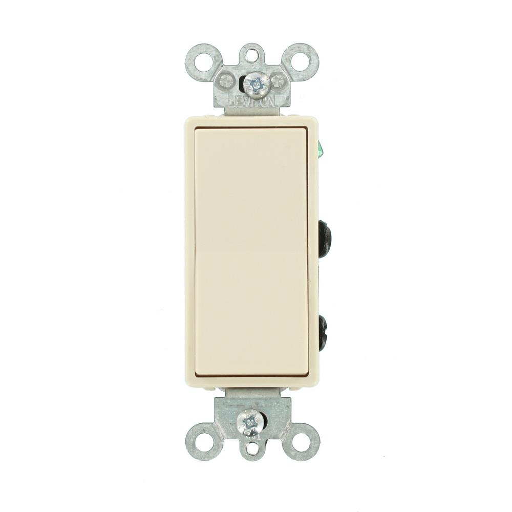 Leviton 15 Amp Decora Residential Grade 4-way Lighted Rocker Switch  Light Almond-5614-2t