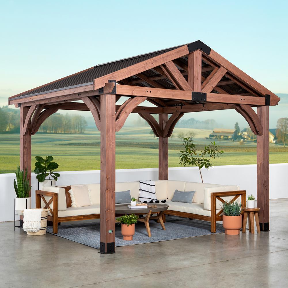Arlington 12 ft. x 10 ft. Gazebo with Steel Roof