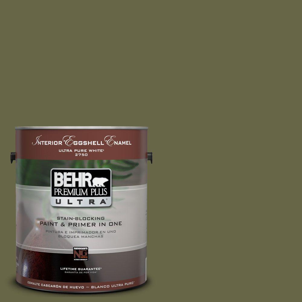 BEHR Premium Plus Ultra 1-Gal. #UL200-22 Amazon Jungle Interior Eggshell Enamel Paint