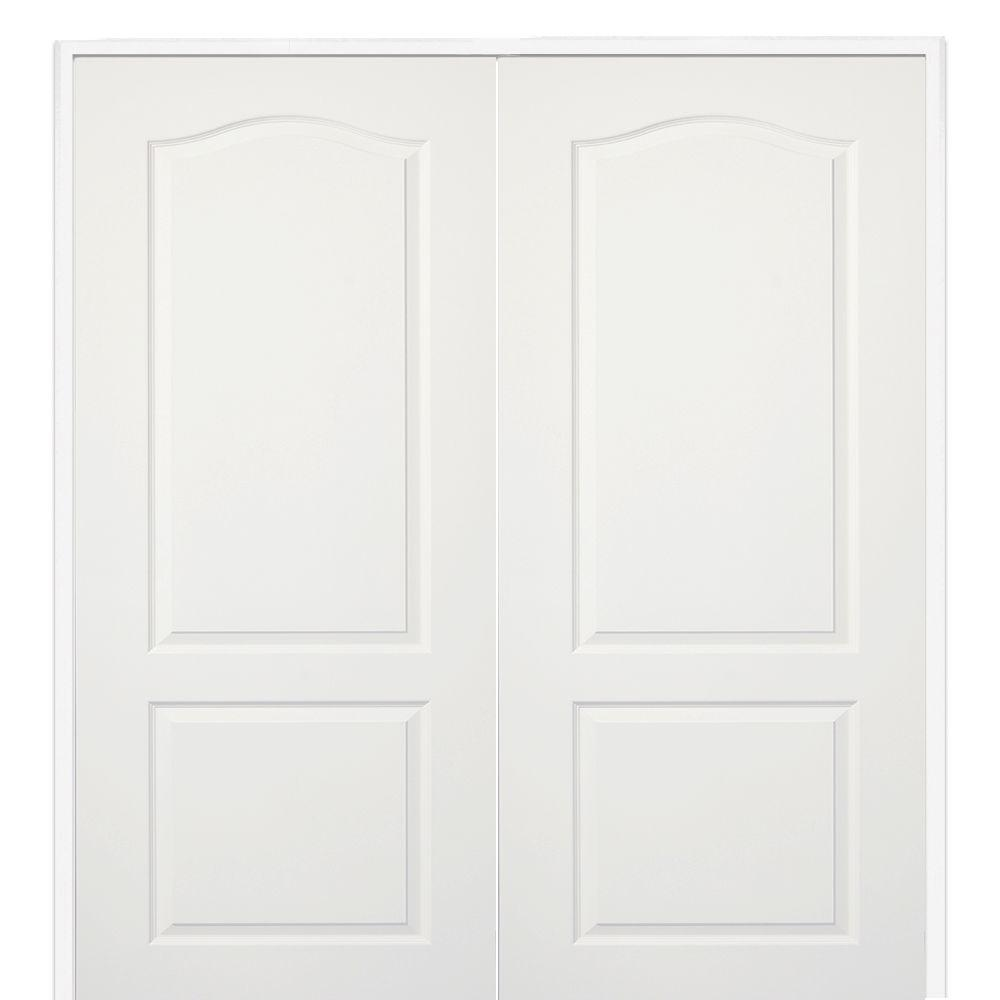 interior double door. 60 in. x 80 smooth princeton both active solid core primed molded composite interior double door
