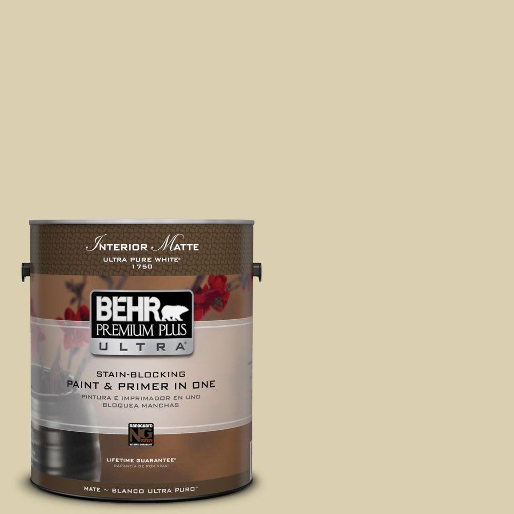 BEHR Premium Plus Ultra 1 gal. #M330-3 Sweet Jasmine Matte Interior Paint