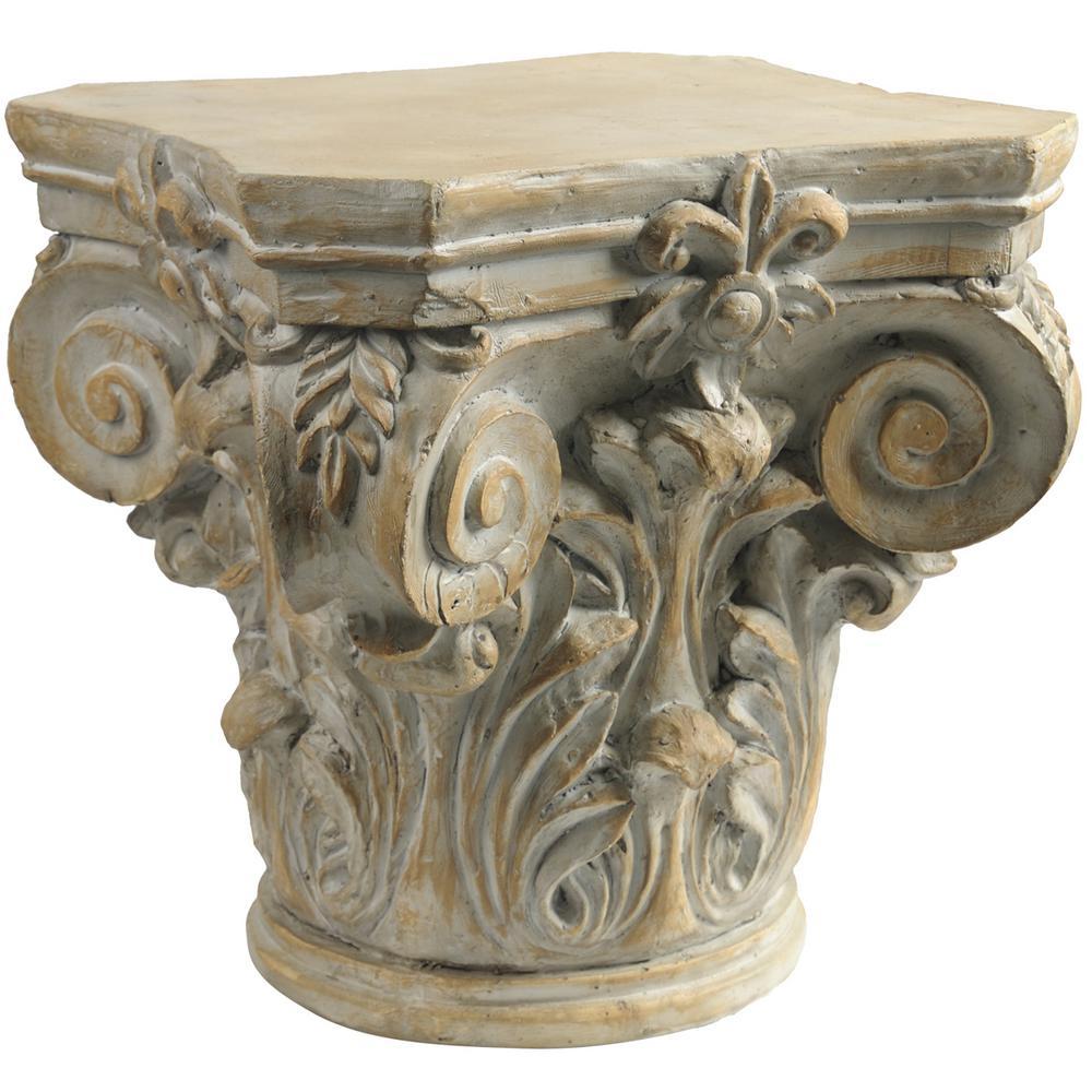 18.5 inch Pedestal Decorative Sculpture by