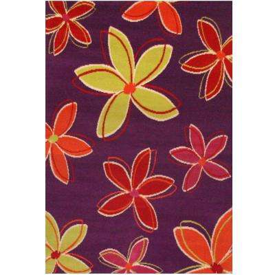 Terra Shasta Purple 3 ft. 9 in. x 5 ft. 6 in. Area Rug