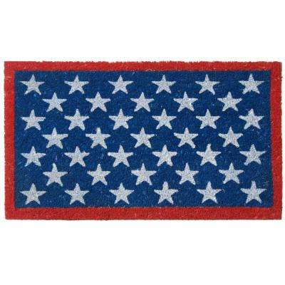 Red, White and Blue Patriotic 30 in. x 18 in. Door Mat