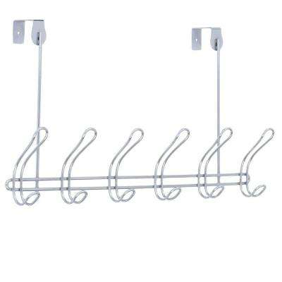 Classico Over-the-Door 6-Hook Rack in Chrome