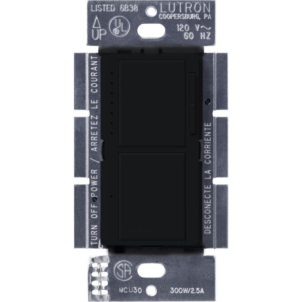 Lutron Maestro 300 Watt Single Pole Dual Dimmer And Switch