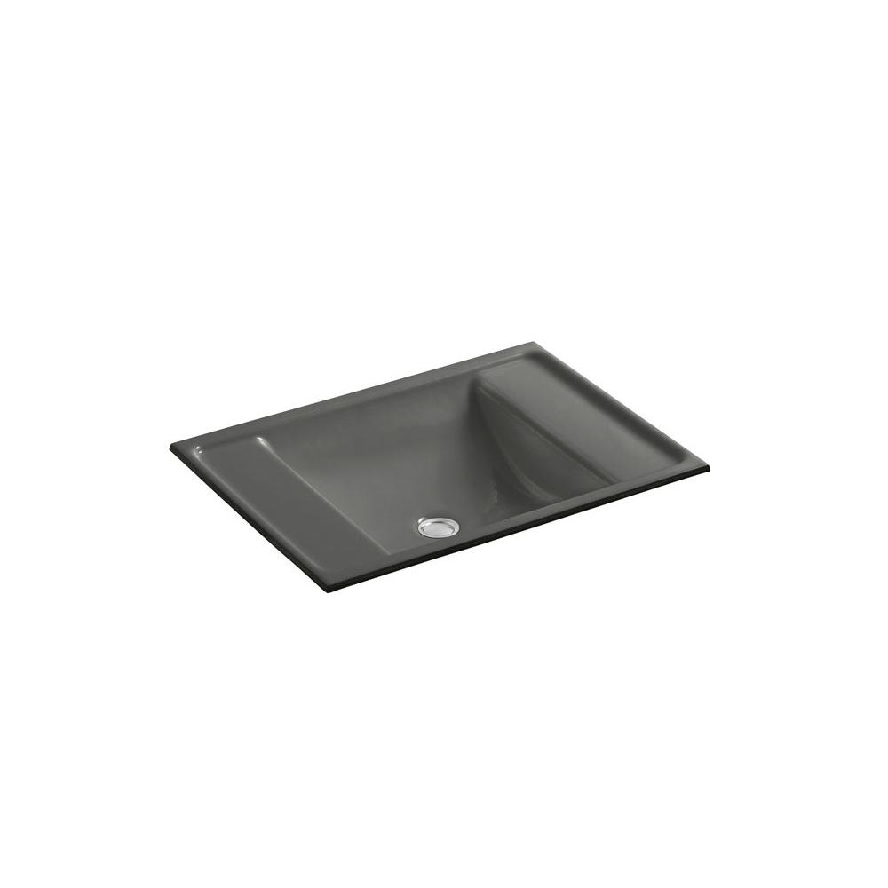 KOHLER Ledges Undermount Bathroom Sink in Thunder Grey-DISCONTINUED