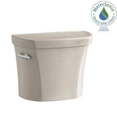 Wellworth 1.28 GPF Single Flush Toilet Tank Only in Sandbar