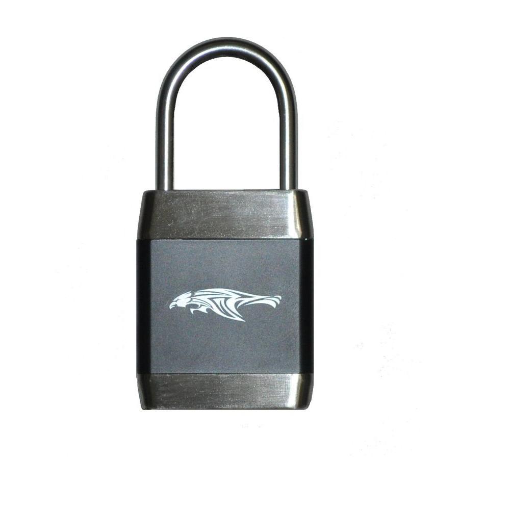2-1/2 in. Steel Shackle Zinc Alloy Biometric Fingerprint Operated Padlock