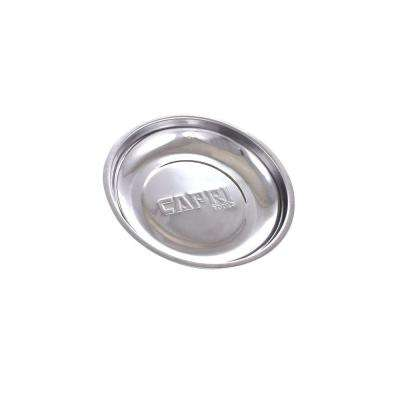 6 in. Round Stainless Steel Magnetic Tools Tray