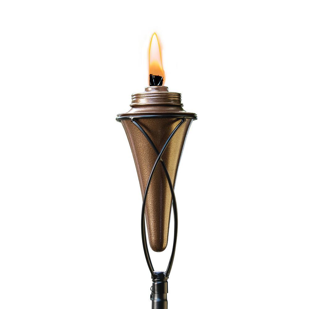 TIKI 65 in. Kiawah Metal Torch Copper