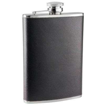 Ano Black Leather 8 oz. Flask